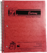 BARONS 1 SUBJECT NOTEBOOK - Barons 1 Subject Notebook