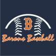 BARONS BASEBALL OUTLINE HOODIE - Barons Baseball Outline Hoodie