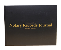 NRB-LGR-HC - Professional Notary Records Journal. Ledger Edition<br>Hard Cover